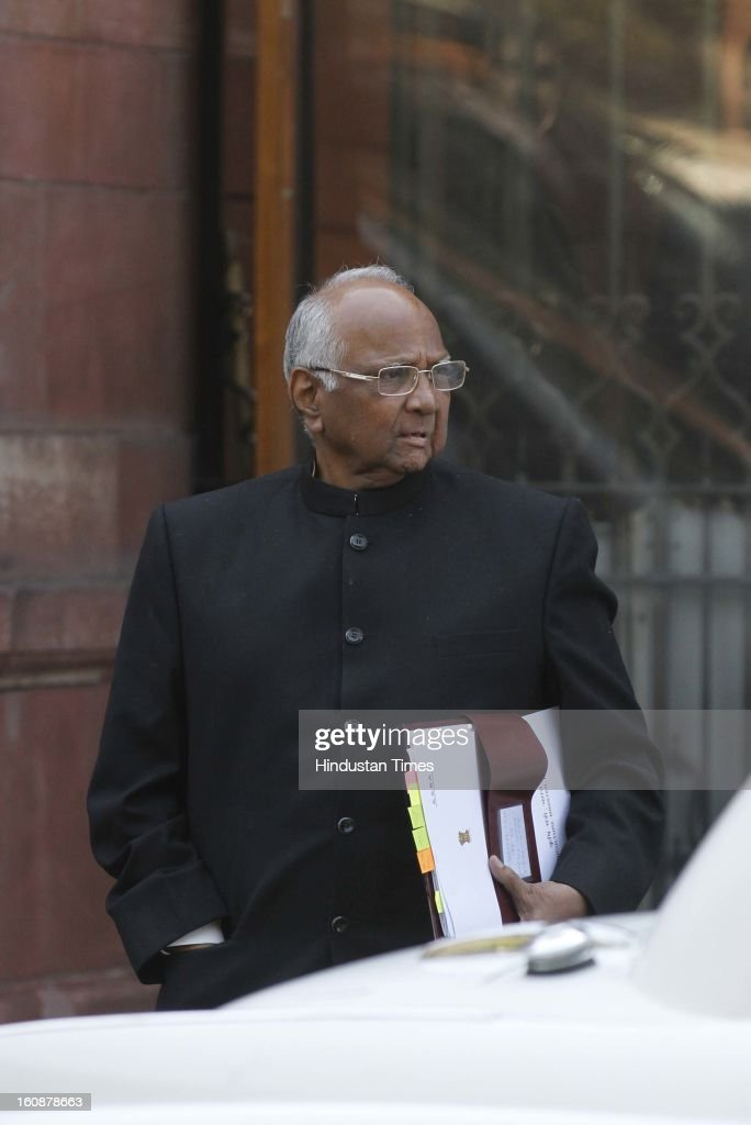 Minister of Agriculture Sharad Pawar coming out after Cabinet Meeting at South Block, on February 7, 2013 in New Delhi, India.