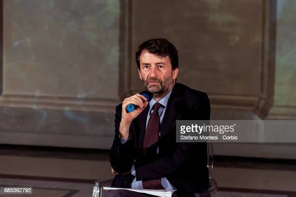 Minister of Cultural Heritage and Tourism Dario Franceschini during a press conference at Venice Palace where 'ArtCity' is presented a project of...