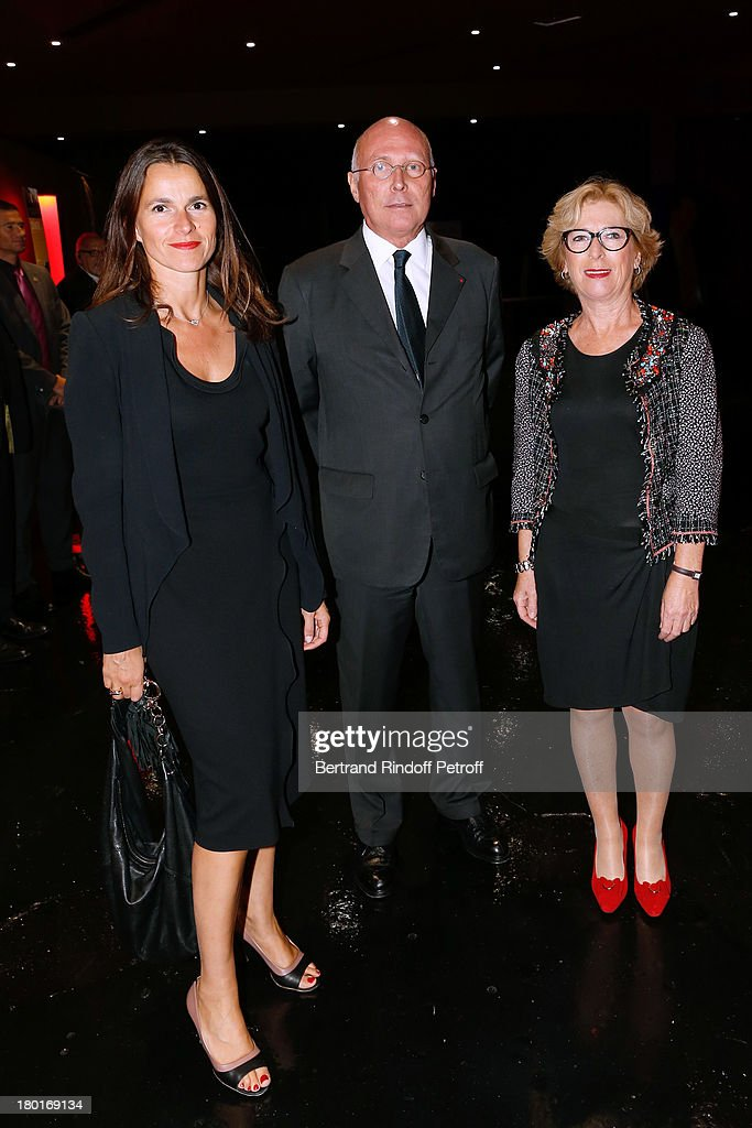 Minister of Culture and Communication Aurelie Filippetti, , CEO of Quai Branly Museum Stephane Martin and Minister of Higher Education and Research Genevieve Fioraso attend 'Friends of Quai Branly Museum Society' dinner party at Musee du Quai Branly on September 9, 2013 in Paris, France.