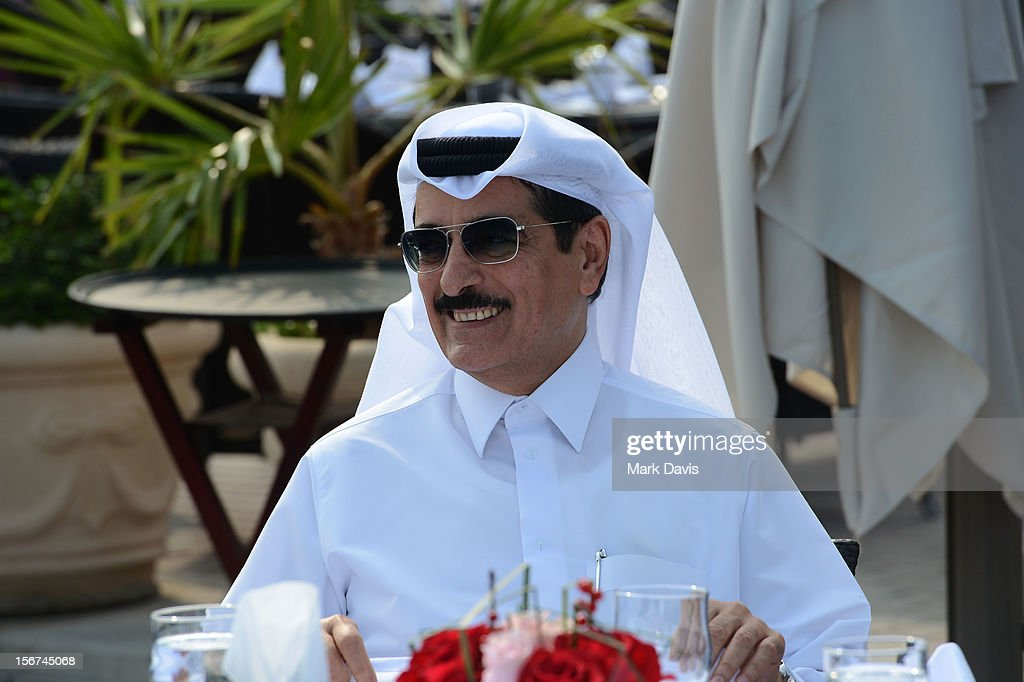 Minister of Culture, Arts and Heritage Dr. Hamad bin Abdulaziz Al-Kuwari at the Arab Guests Lunch during the 2012 Doha Tribeca Film Festival at the Al Mourjan Restaurant on November 20, 2012 in Doha, Qatar.