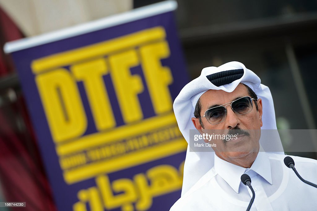 Minister of Culture, Arts and HeritageDr. Hamad Bin Abdulaziz Al-Kuwari at the Arab Guests Lunch during the 2012 Doha Tribeca Film Festival at the Al Mourjan Restaurant on November 20, 2012 in Doha, Qatar.