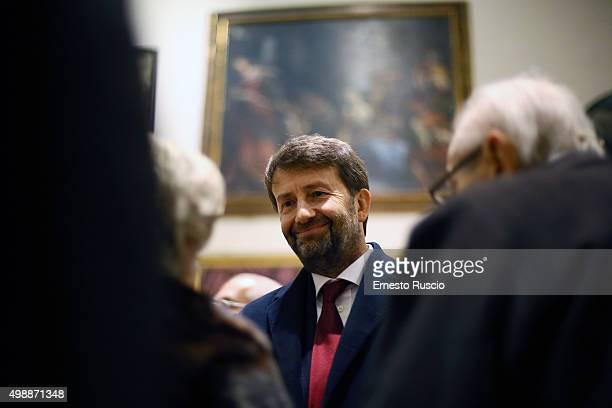 Minister of Culture Dario Franceschini attends the Vittorio De Sica 2015 Awards Ceremony at Palazzo Barberini on November 26 2015 in Rome Italy
