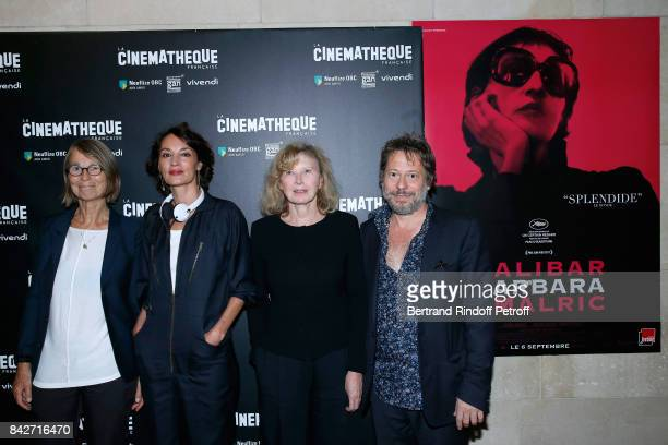Minister of Culture Francoise Nyssen actresses of the movie Jeanne Balibar Aurore Clement and actor/director of the movie Mathieu Amalric attend the...