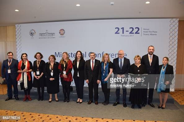 Minister of Culture of Albania Mirela Kumbaro and Turkish Deputy Minister of Culture and Tourism Huseyin Yayman attend the third Ministerial...