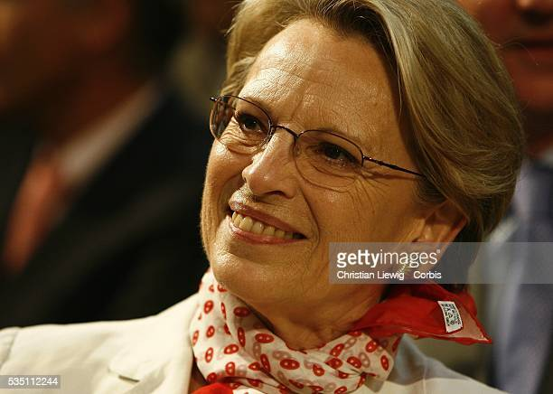 Minister of Defense Michele AlliotMarie attends a campaign rally for the Union for a Popular Movement presidential candidate Nicolas Sarkozy in...