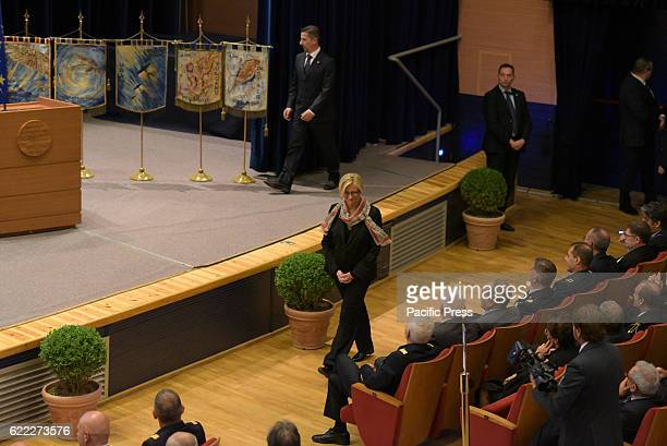 ACADEMY POZZUOLI NAPOLI ITALY Minister of Defense Roberta Pinotti during the speech at the inauguration of the academic year of the Institutes of...