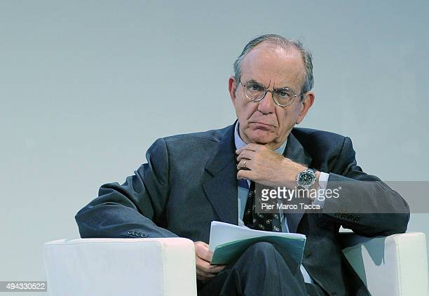 Minister of Economic Affairs and Finance Peter Carlo Padoan attends the Assolombarda general assembly to the Expo 2015 on October 26 2015 in Milan...