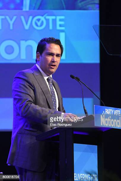Minister of Economic Development Hon Simon Bridges speaking during the National Party 81st Annual Conference at Michael Fowler Centre on June 25 2017...