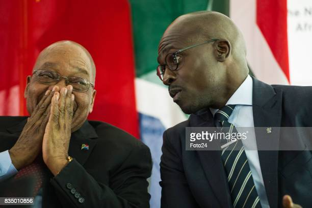 Minister of Finances Malusi Gigaba and President Jacob Zuma on August 17 2017 in Johannesburg South Africa The opening of the Africa Regional Centre...