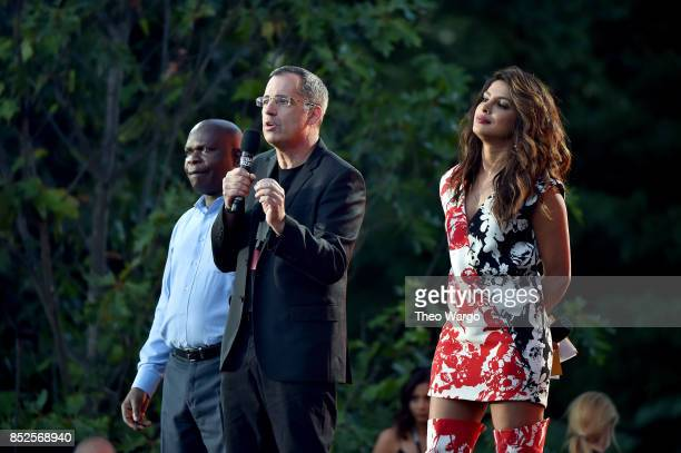Minister of Foreign Affairs and International Cooperation Dr Emmanuel Fabiano Chief Supply Chain Officer of HP Stuart Pann and Actor Priyanka Chopra...
