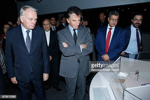 Minister of Foreign Affairs and International Development JeanMarc Ayrault President of the 'Institut du Monde Arabe' Jack Lang and General Director...