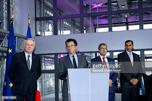 Minister of Foreign Affairs and International Development JeanMarc Ayrault President of the 'Institut du Monde Arabe' Jack Lang General Director of...