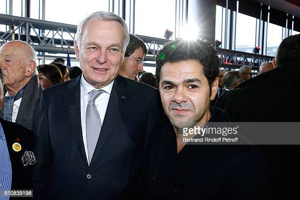 Minister of Foreign Affairs JeanMarc Ayrault and Actor Jamel Debbouze attend King Mohammed VI of Morocco and French President Francois Hollande...