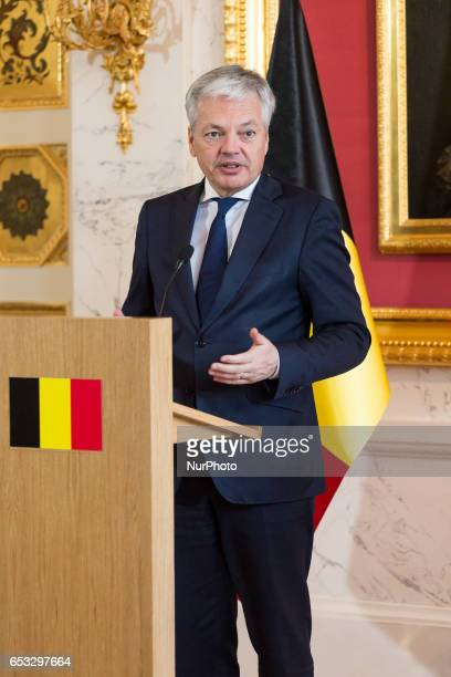 Minister of Foreign Affairs of Belgium Didier Reynders in Warsaw Poland on 14 March 2017