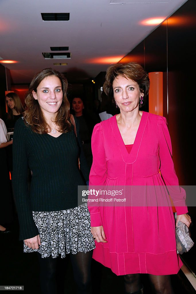 Minister of Health Marisol Touraine (L) with her daughter Alexandra Touraine attend AROP Gala at Opera Bastille with a representation of 'Aida' on October 15, 2013 in Paris, France.
