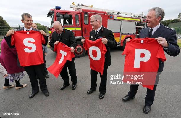 Minister of Health Social Services and Public Safety Edwin Poots NIFRS Chief Fire Officer Chris Kerr NIFRS Deputy Chief Fire Officer Dale Ashford...