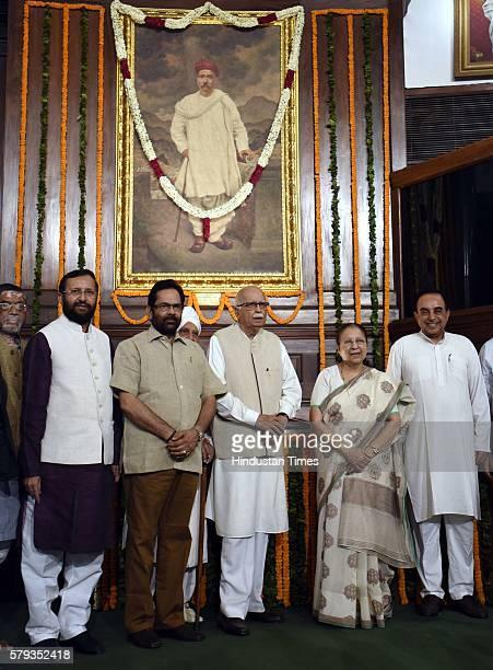 Minister of Human Resource Development Parkash Javadekar Minister of State for Parliamentary Affairs Mukhtar Abbas Naqvi Sr BJP leader Lal Krishna...