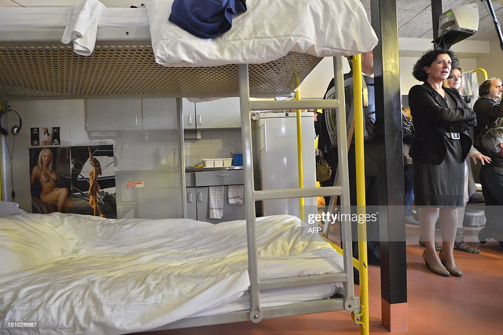 Minister of Justice Annemie Turtelboom visits the prison in Tilburg the Netherlands on August 31 2012 Since 2010 the Tilburg prison is hosting about...