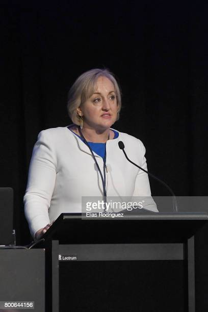 Minister of Justice Hon Amy Adams speaking during the National Party 81st Annual Conference at Michael Fowler Centre on June 25 2017 in Wellington...