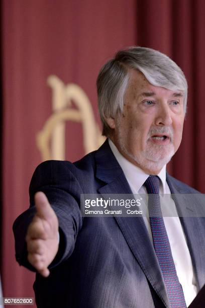 Minister of Labor Giuliano Poletti during the Annual Report to the Chamber of Deputies of INPS on July 04 2017 in Rome Italy
