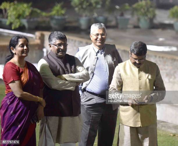 Minister of Law and Justice Ravi Shankar Prasad Minister of State for the Ministry of Commerce Industry Nirmala Sitharaman Minister of State for...