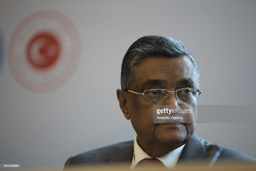 Minister of Local Government and Engineering Department of Bangladesh Government Khandaker Mosharraf Hossain attends a conference within Midterm Review of the Istanbul Programme of Action at the Titanic Hotel in Antalya, Turkey on May 26, 2016. The Midterm Review conference for the Istanbul Programme of Action for the Least Developed Countries will take place in Antalya, Turkey from 27-29 May 2016. The conference will undertake a comprehensive review of the implementation of the Istanbul Programme of Action by the least developed countries (LDCs) and their development partners and likewise reaffirm the global commitment to address the special needs of the LDCs.