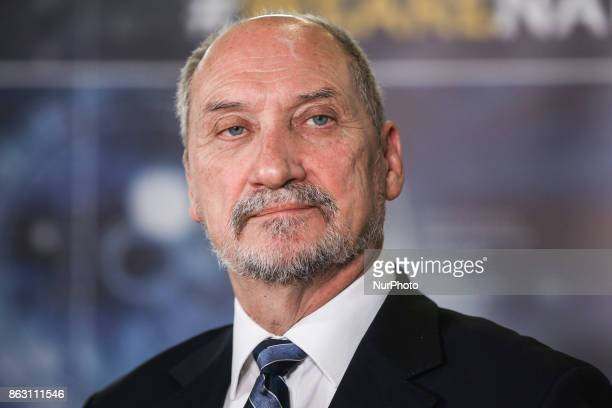 Minister of National Defence of the Republic of Poland Antoni Macierewicz during a press conference for the opening of NATO Counter Intelligence...