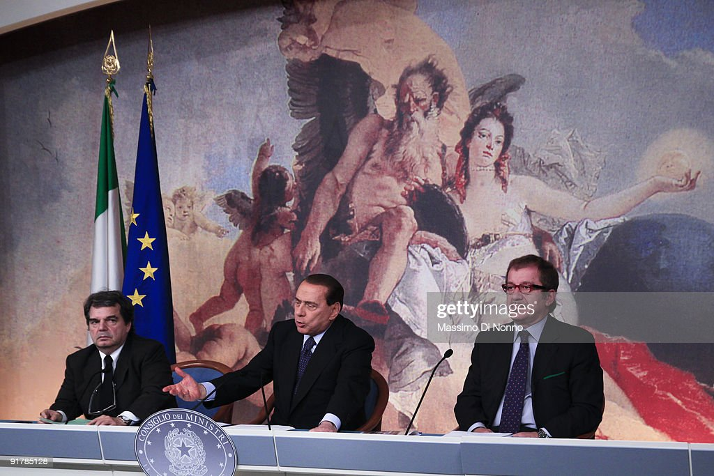 Silvio Berlusconi Holds Press Conference