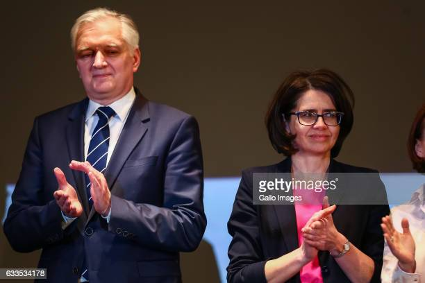 Minister of Science and Higher Education Jaroslaw Gowin and Minister of Digital Affairs Anna Strezynska attend the inauguration of the campaign...