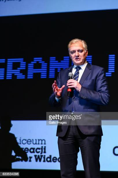 Minister of Science and Higher Education Jaroslaw Gowin attends the inauguration of the campaign called programujgovpl on January 31 2017 in Warsaw...
