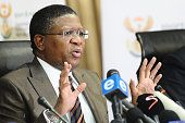 Minister of Sport Fikile Mbalula during the FIFA allegations Press Conference at SAFA House Conference Centre on June 03 2015 in Johannesburg South...