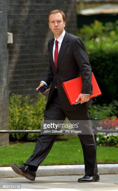 Minister of State for Business and Enterprise Matthew Hancock arrives in Downing Street London where Prime Minister David Cameron chaired a meeting...