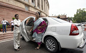Minister of State for Commerce Industry Nirmla Sitharaman during the Parliament Monsoon Session on July 18 2016 in New Delhi India A total of 25...