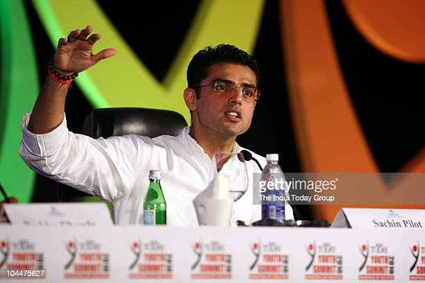 Minister of State for Communications Sachin Pilot during the India Today Youth Summit 2010 in New Delhi on Saturday September 25 2010