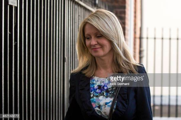 Minister of State for Employment Esther McVey leaves Downing Street on July 14 2014 in London England Whitehall sources have indicated that Prime...