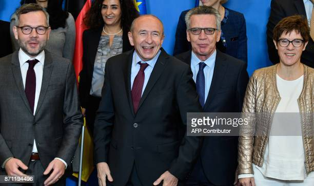 Minister of State for Europe at the German Federal Foreign Office Michael Roth French Interior Minister Gerard Collomb his German counterpart Thomas...