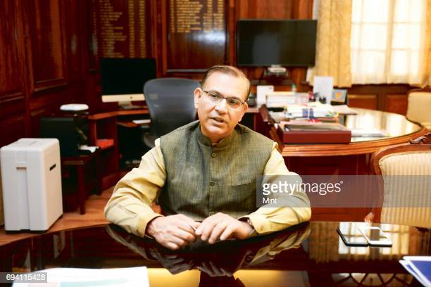 Minister of state for Finance Jayant Sinha photographed during an Interview at his office