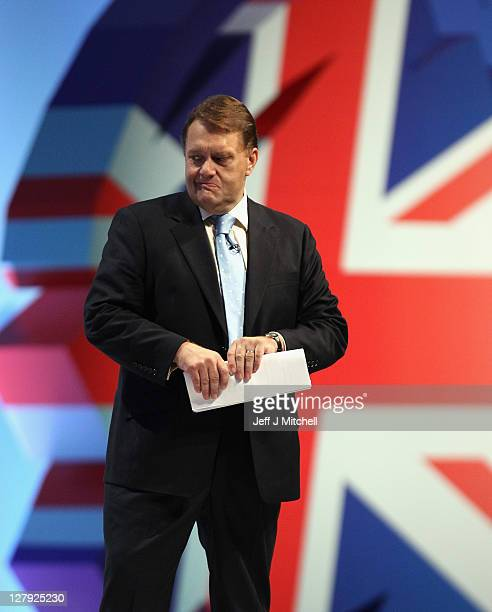 Minister of State for Further Education Skills and Liflong Learning John Hayes delivers his keynote speech to Conservative party members and...