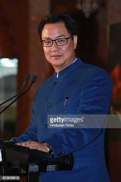 Minister of State for Home Affairs Kiren Rijiju salutes Nation's Guardians during an event organized by Heera Group of Companies Dhanda Associates at...