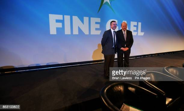 Minister of State for Public Service Reform and the Office of Public Works Brian Hayes and Minister for Finance Michael Noonan at the Fine Gael ard...