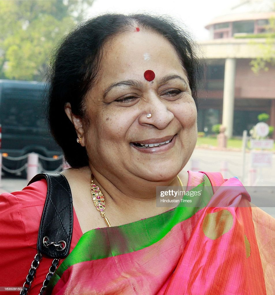 Minister of State (Independent Charge), Ministry of Environment and Forests, Jayanthi Natarajan during the ongoing parliament budget session on March 11, 2013 in New Delhi, India.