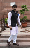 Minister of State Ministry of IB Colonel Rajyavardhan Singh Rathore during the Parliament Monsoon Session on July 18 2016 in New Delhi India A total...