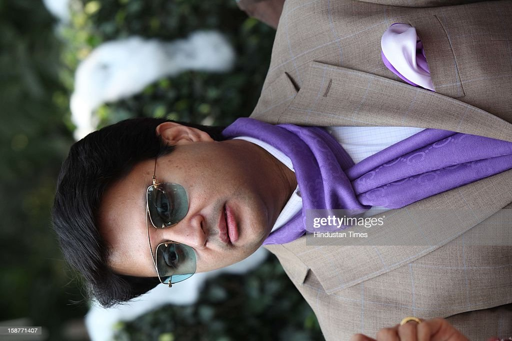 Minister of state of Power Jyotiraditya Scindia during Christmas party thrown by communication guru Dilip and Devi Cherian at Lodi Garden on December 22, 2012 in New Delhi, India.