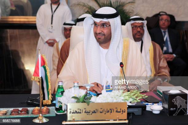 UAE Minister of State Sultan Ahmed alJaber attends the preparatory meeting of Arab Foreign Ministers during the 28th Summit of the Arab League at the...