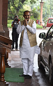 Minister of State Textiles Ajay Tamta during the Parliament Monsoon Session on July 18 2016 in New Delhi India A total of 25 bills including the...