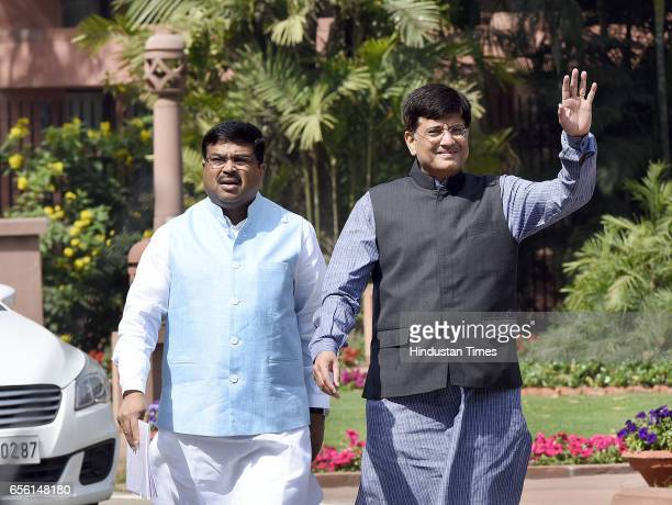 Minister of State with Independent Charge for Power Coal New and Renewable Energy and Mines Piyush Goyal and Minister of Petroleum and Natural Gas...