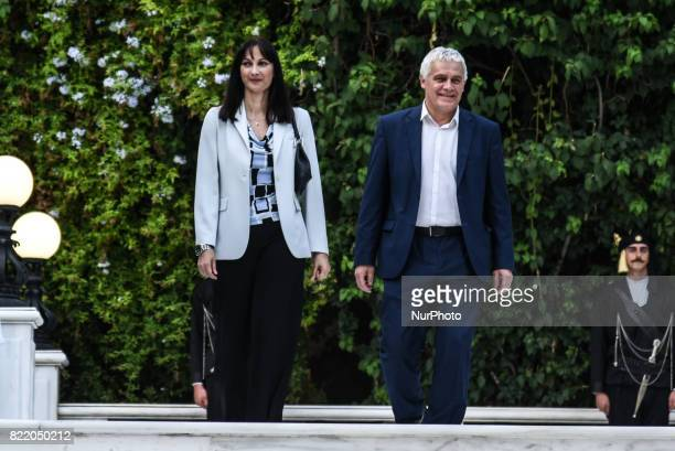 Minister of Tourism Elena Koudoura and Alternate Minister of Agriculture Giannis Tsironis on the occasion of the 43rd anniversary of restoration of...