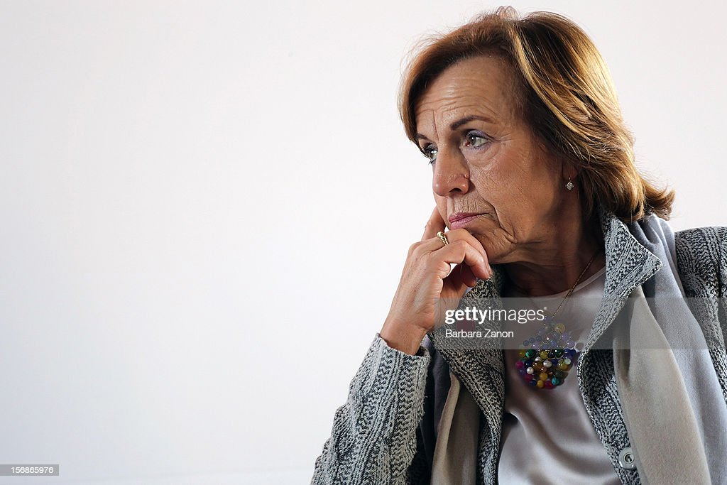 Minister of Welfare and Equal Opportunities <a gi-track='captionPersonalityLinkClicked' href=/galleries/search?phrase=Elsa+Fornero&family=editorial&specificpeople=8642721 ng-click='$event.stopPropagation()'>Elsa Fornero</a> attends the conference 'Tempo di donne: crescita economica e diversita di genere' at San Servolo Island on November 23, 2012 in Venice, Italy. Thousands of students have protested as part of 'No Fornero Day' during the ministers visit, in response to government cutbacks to education and what they perceive as a casualisation of the job market.