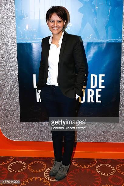 Minister of Women's Rights Najat VallaudBelkacem attends the screening of 'La valse de Marylore' short film Held at Cinema Gaumont Opera in Paris on...