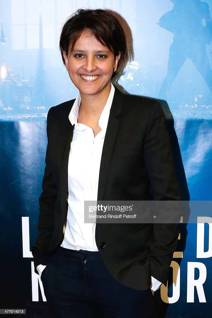 Minister of Women's Rights <a gi-track='captionPersonalityLinkClicked' href=/galleries/search?phrase=Najat+Vallaud-Belkacem&family=editorial&specificpeople=4115928 ng-click='$event.stopPropagation()'>Najat Vallaud-Belkacem</a> attends the screening of 'La valse de Marylore' short film. Held at Cinema Gaumont Opera in Paris. on March 6, 2014 in Paris, France. This film denounces abuse of women before the Women's Day, the March 8, 2014.